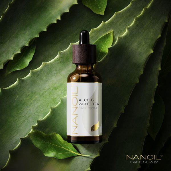 Natürlich schön dank dem Nanoil Gesichtsserum mit Aloe Vera und weißem Tee