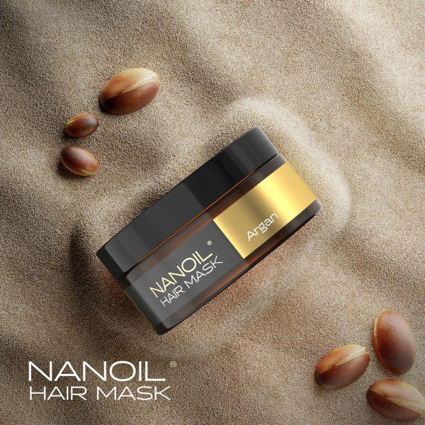 Nanoil – Haarmaske mit Arganöl – schöne Frisur in 15 Minuten