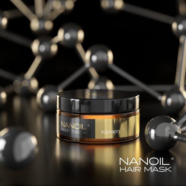 Regeneration der Haare mit der Nanoil Haarmaske mit Keratin